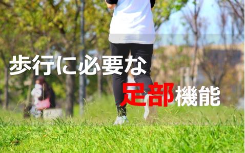 歩行に必要な足部機能